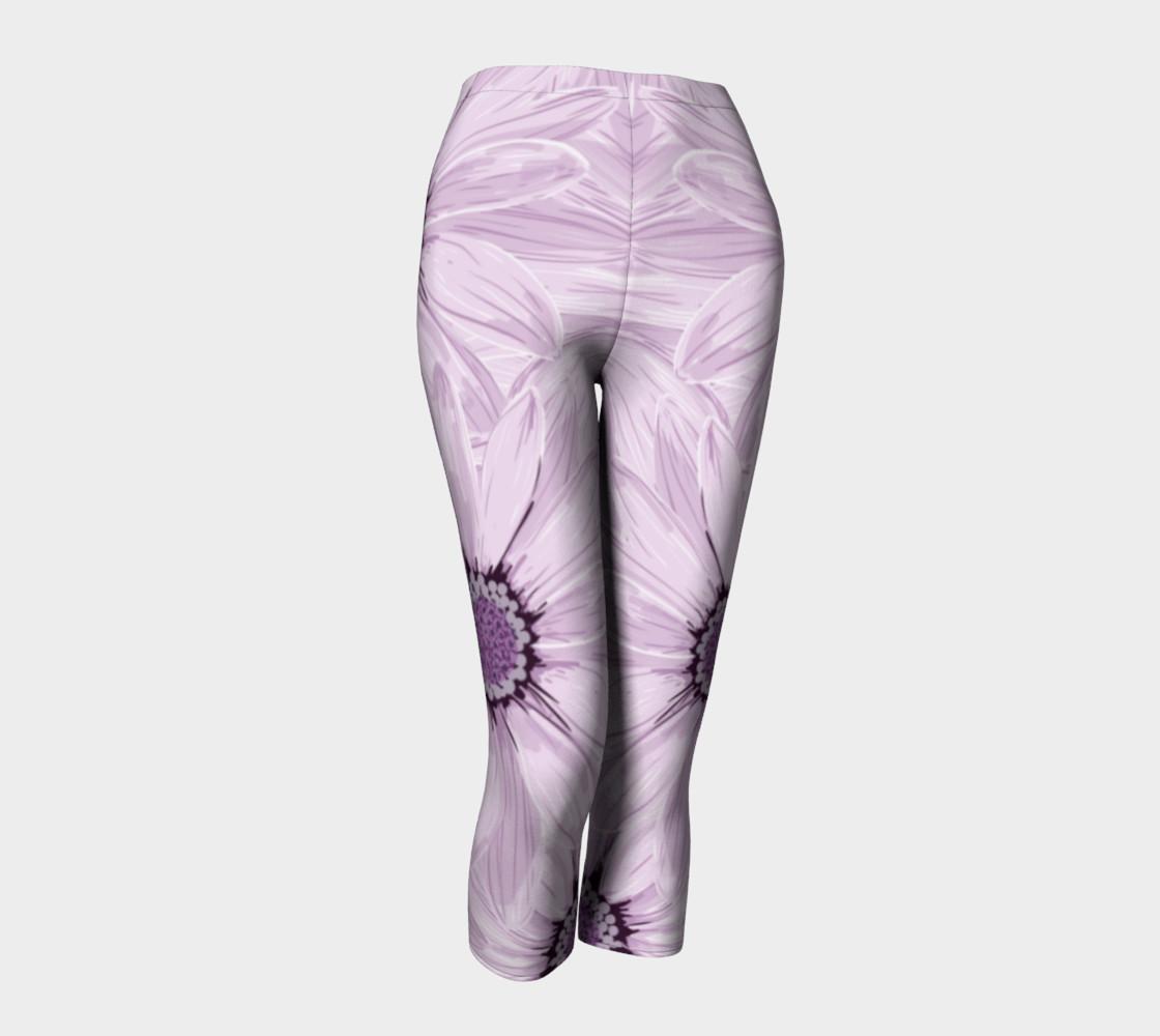 Purple Daisy Blast Capris leggings preview #1