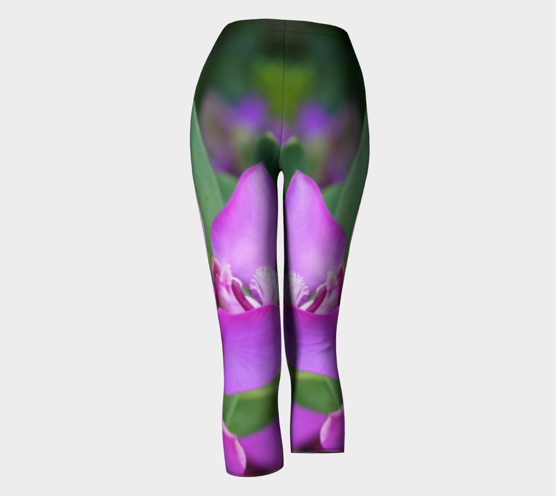 Purple Myrtle Finial Flower Capris leggings preview #4
