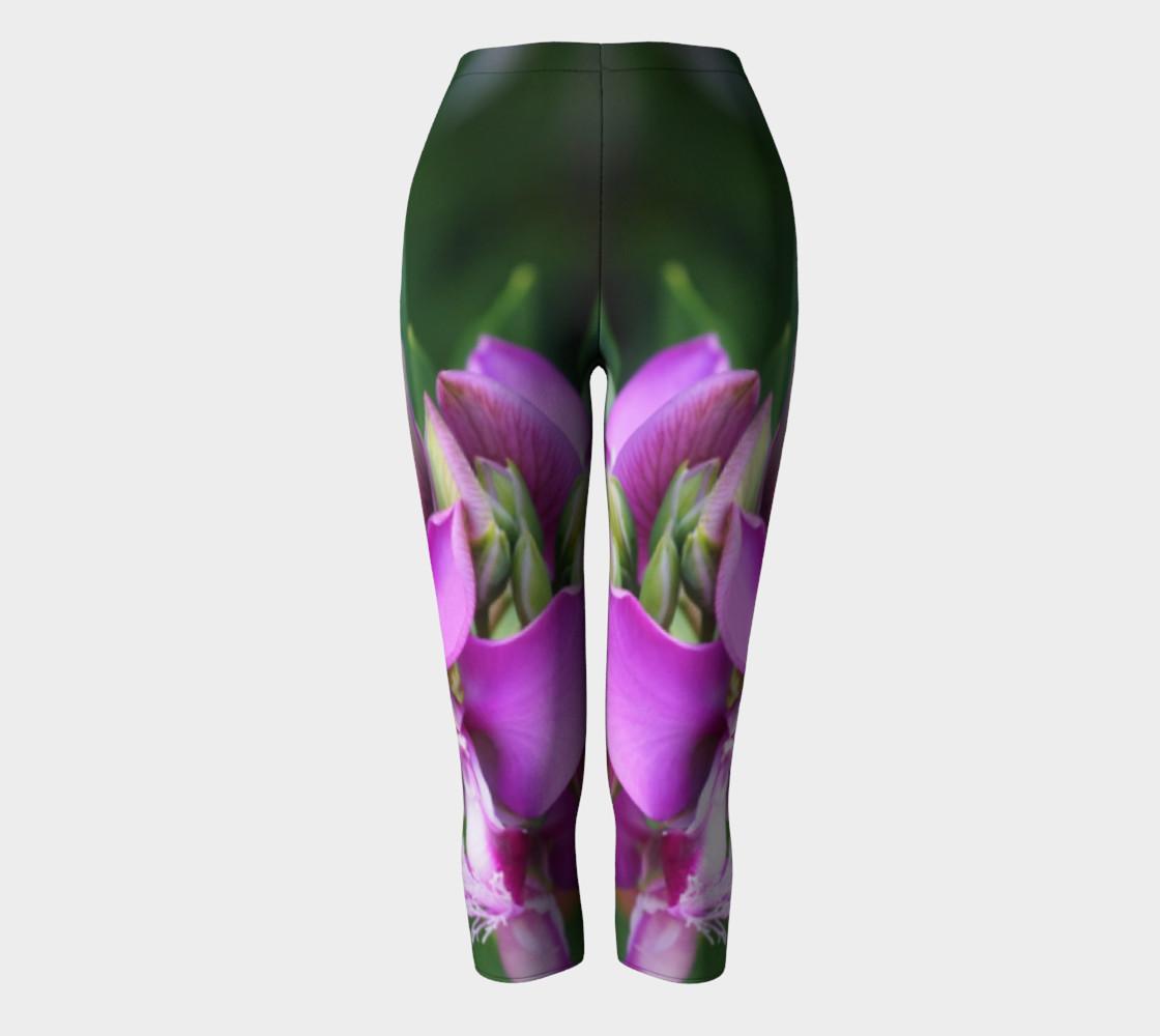 Purple Myrtle Finial Flower Capris leggings preview #2