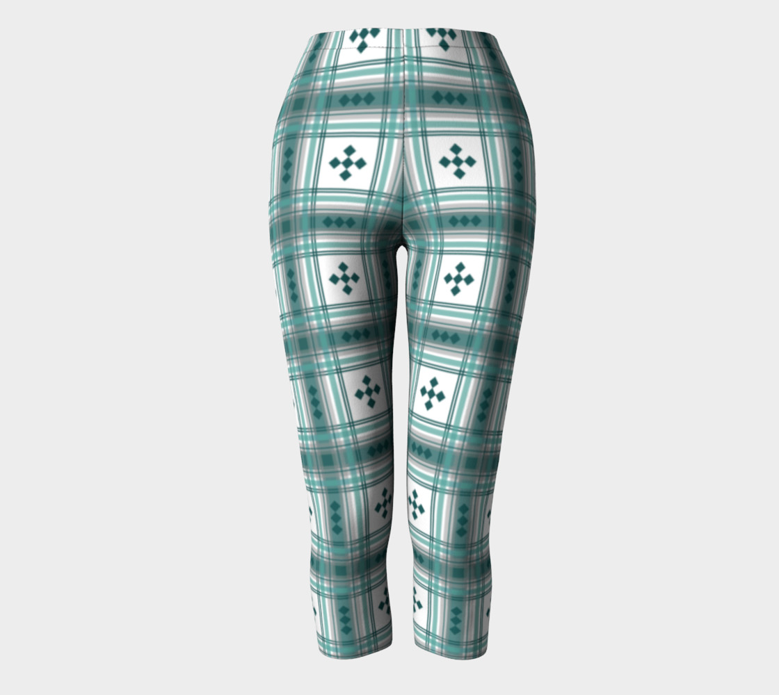 Preppy Plaid in Teal, Gray and White preview #2