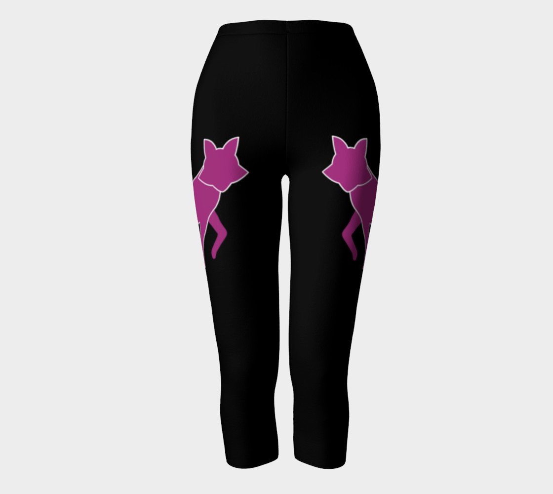 Fox Purple Silhouette Capris leggings preview #2