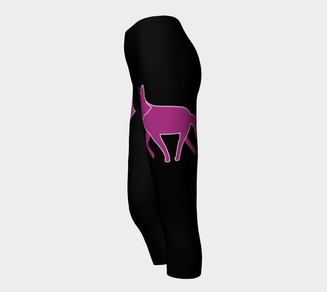 Fox Purple Silhouette Capris leggings preview #3