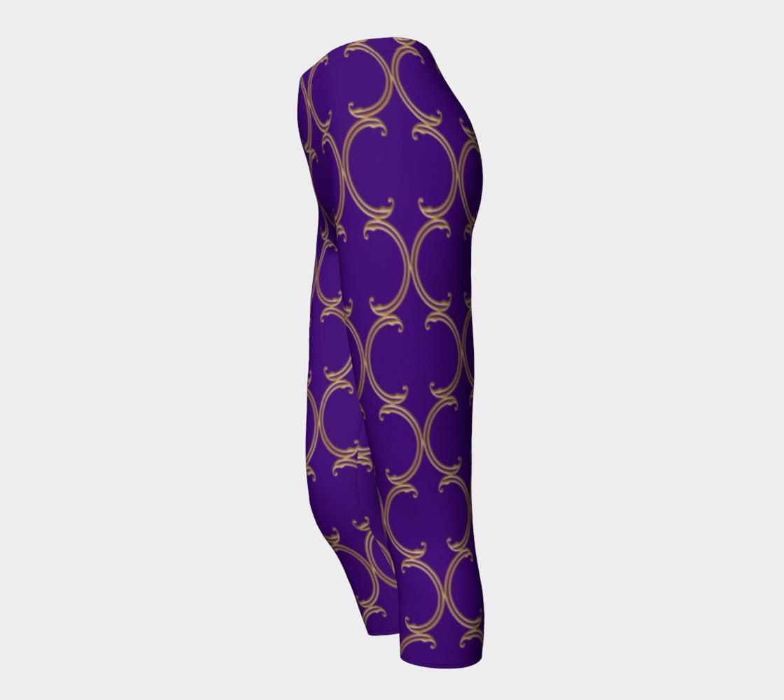 Moroccan Lattice in Purple and Faux Gold preview #3