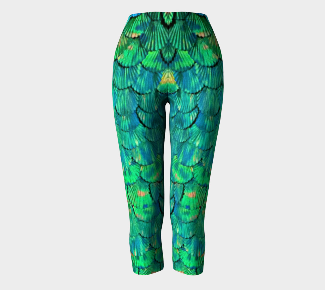 Mermaid Large--Scale Green Capris preview #2