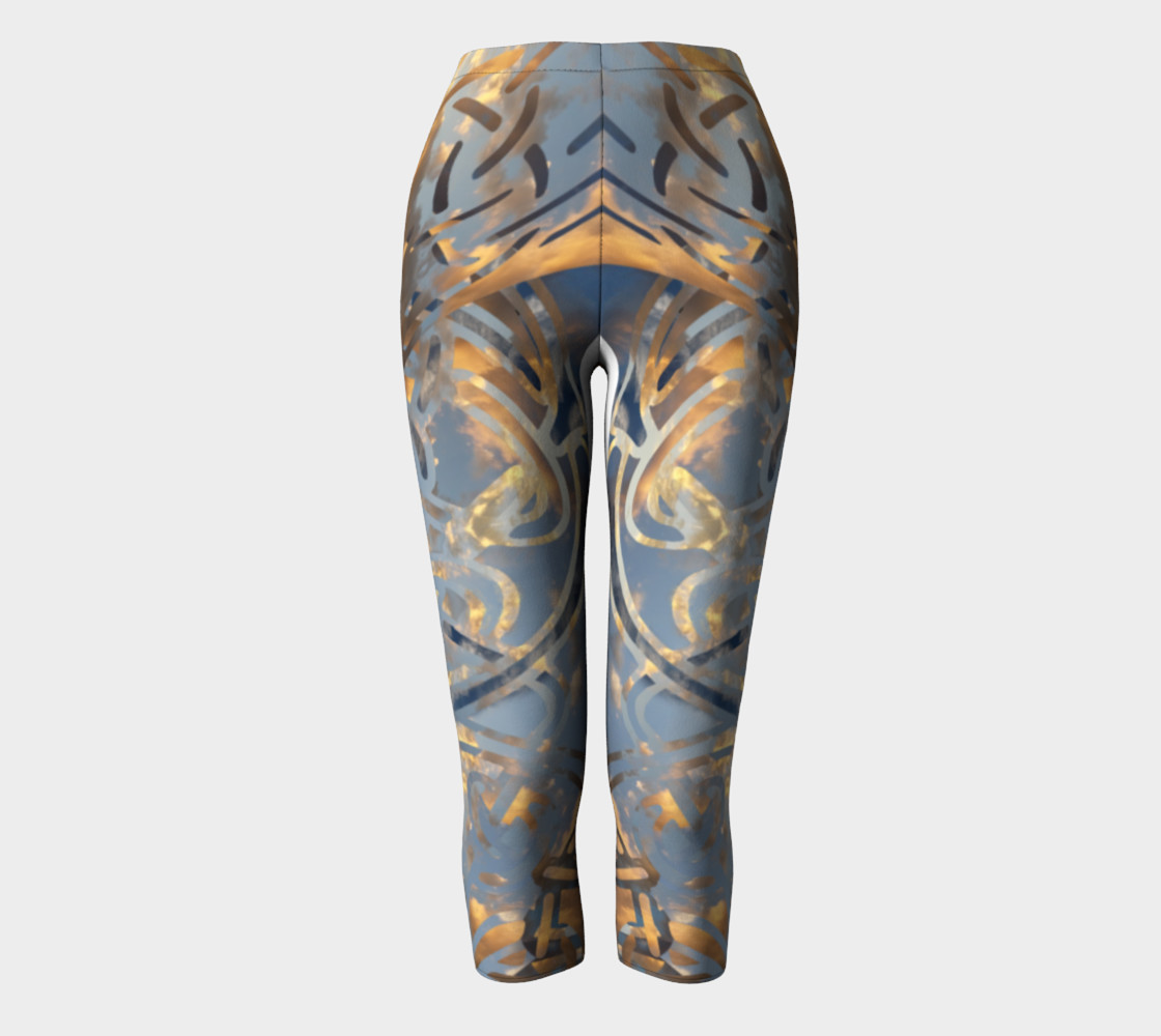 Swirling Celtic Sunset Capris preview #2