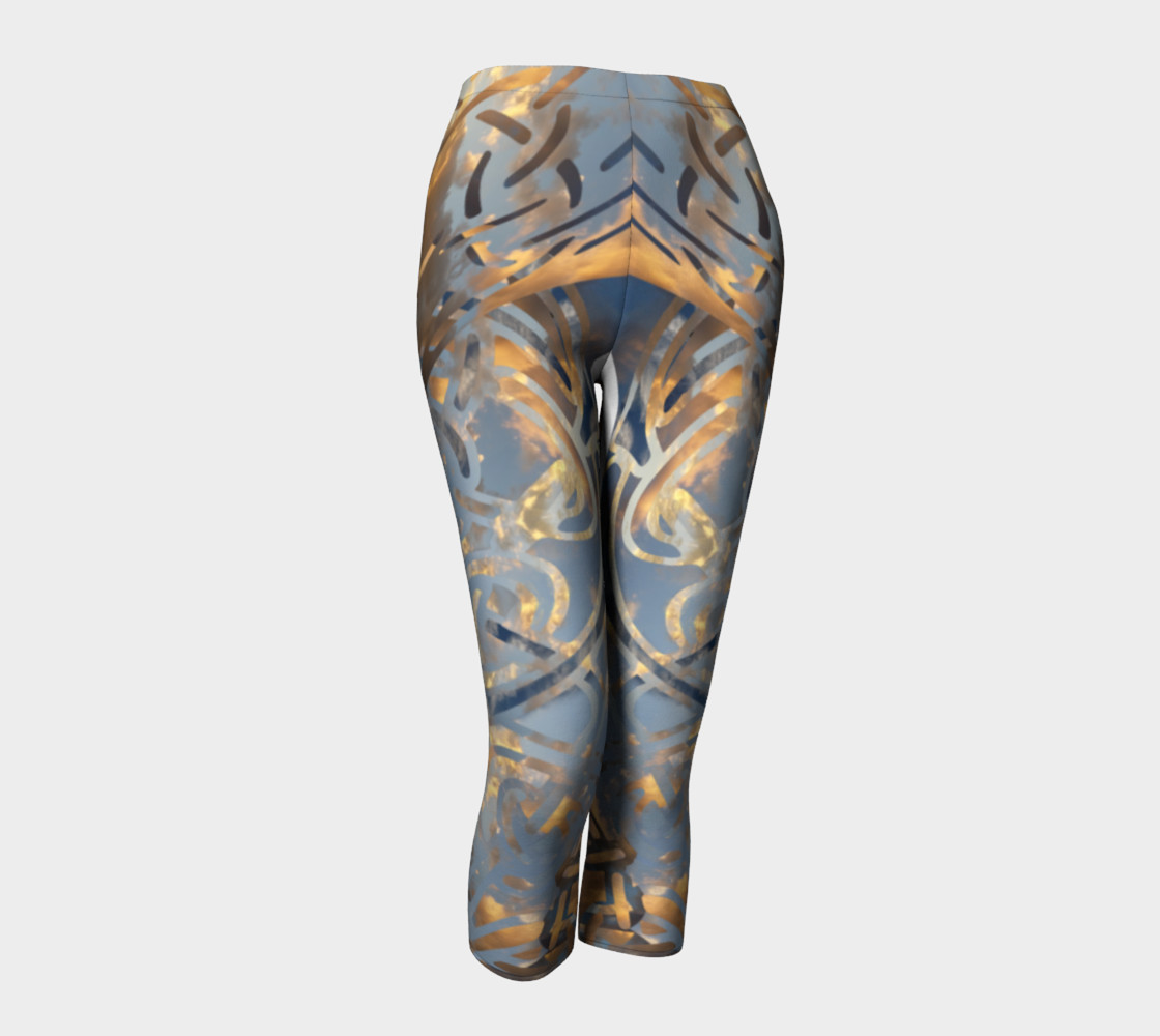 Swirling Celtic Sunset Capris preview #1