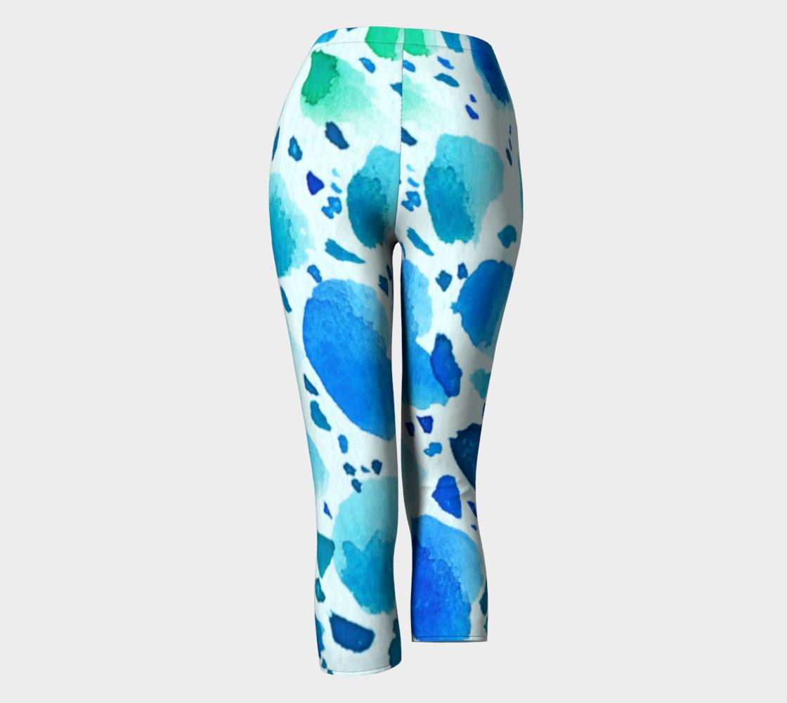 Aperçu de Blue Watercolour Dalmatian Pattern #4