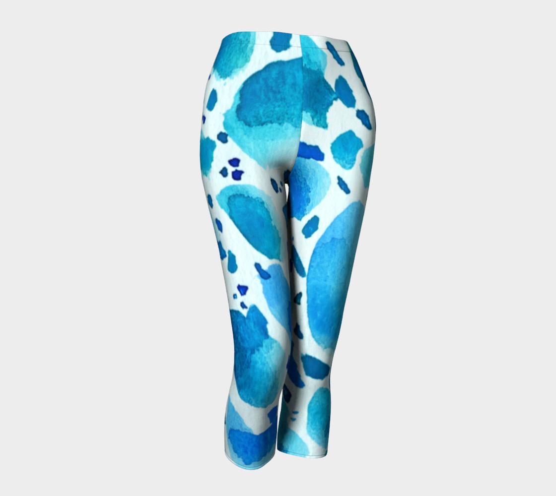 Aperçu de Blue Watercolour Dalmatian Pattern #1