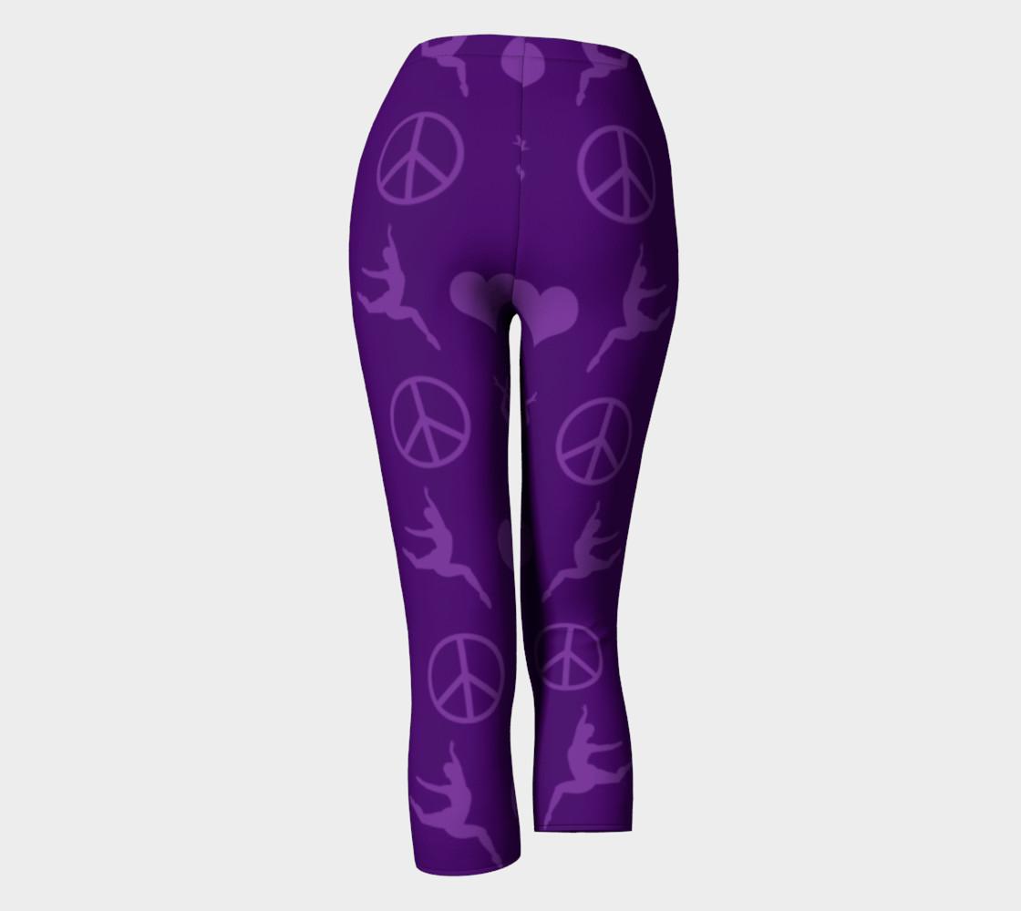 Purple gymnastics hearts peace gymnasts leggings preview #4