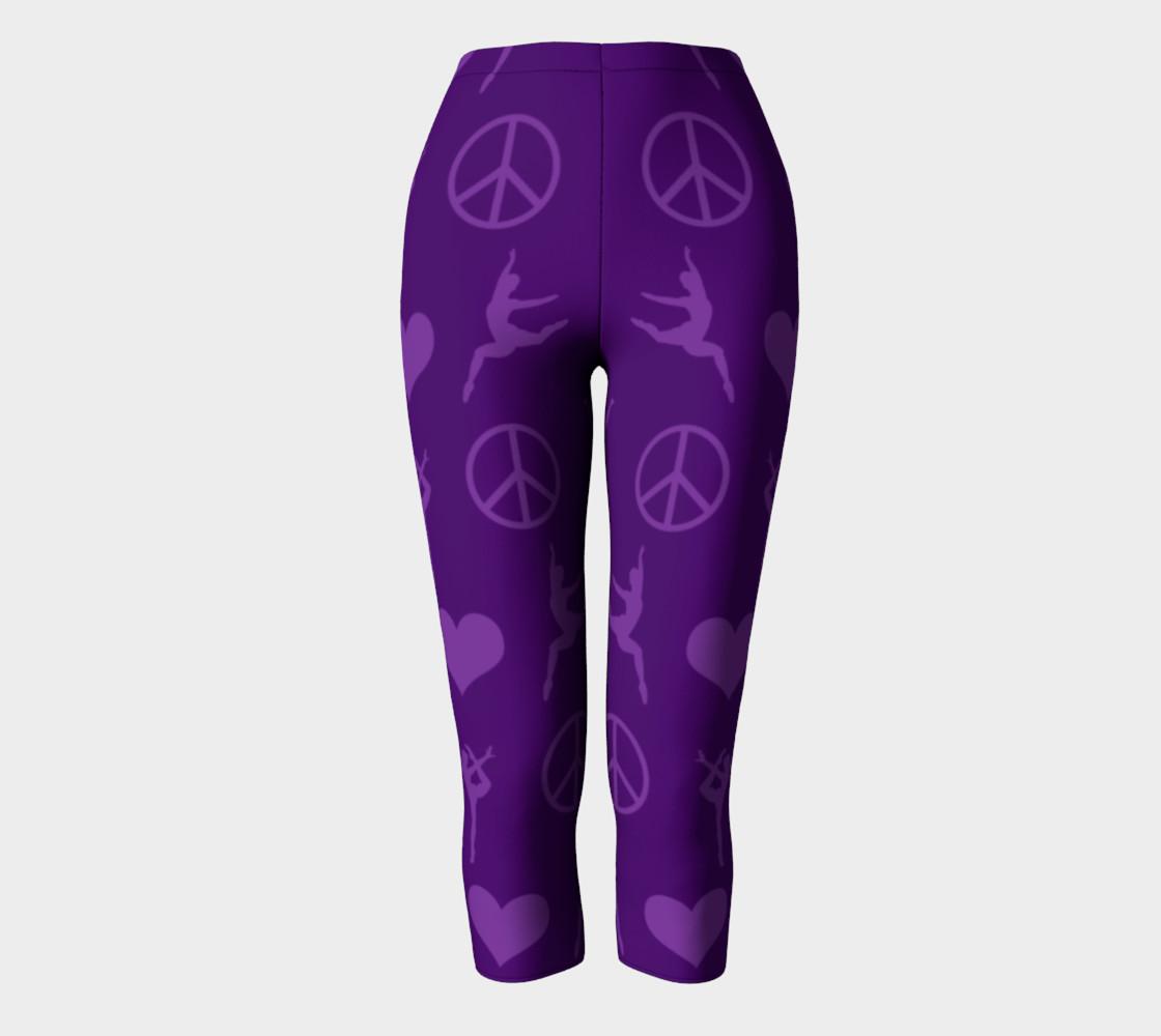 Purple gymnastics hearts peace gymnasts leggings preview #2