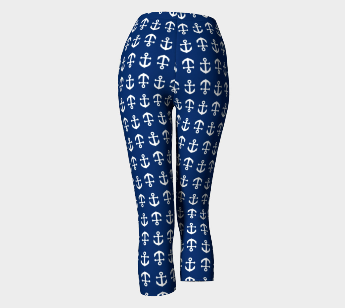 Anchor Toss (White on Navy) Capris preview #4