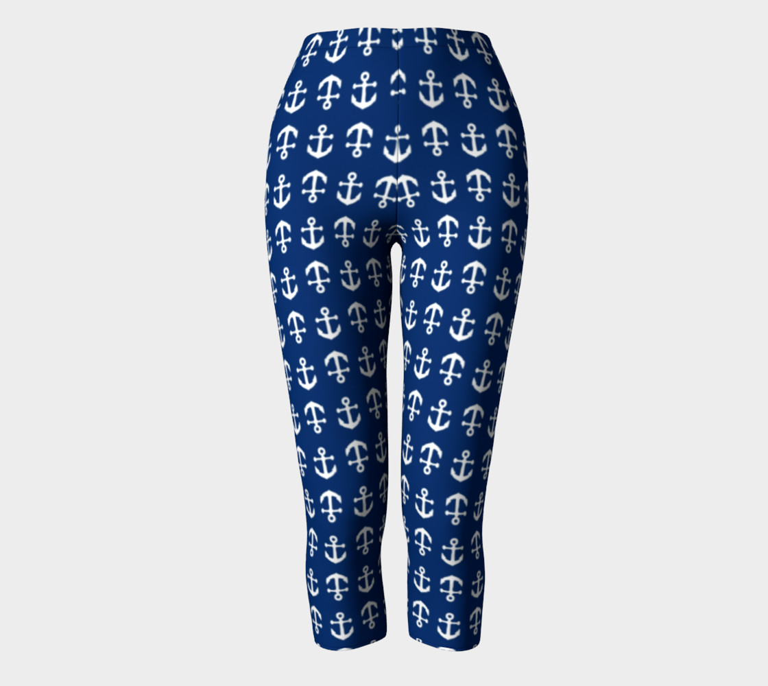 Anchor Toss (White on Navy) Capris preview #2