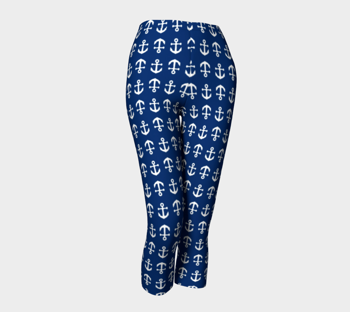 Anchor Toss (White on Navy) Capris preview #1