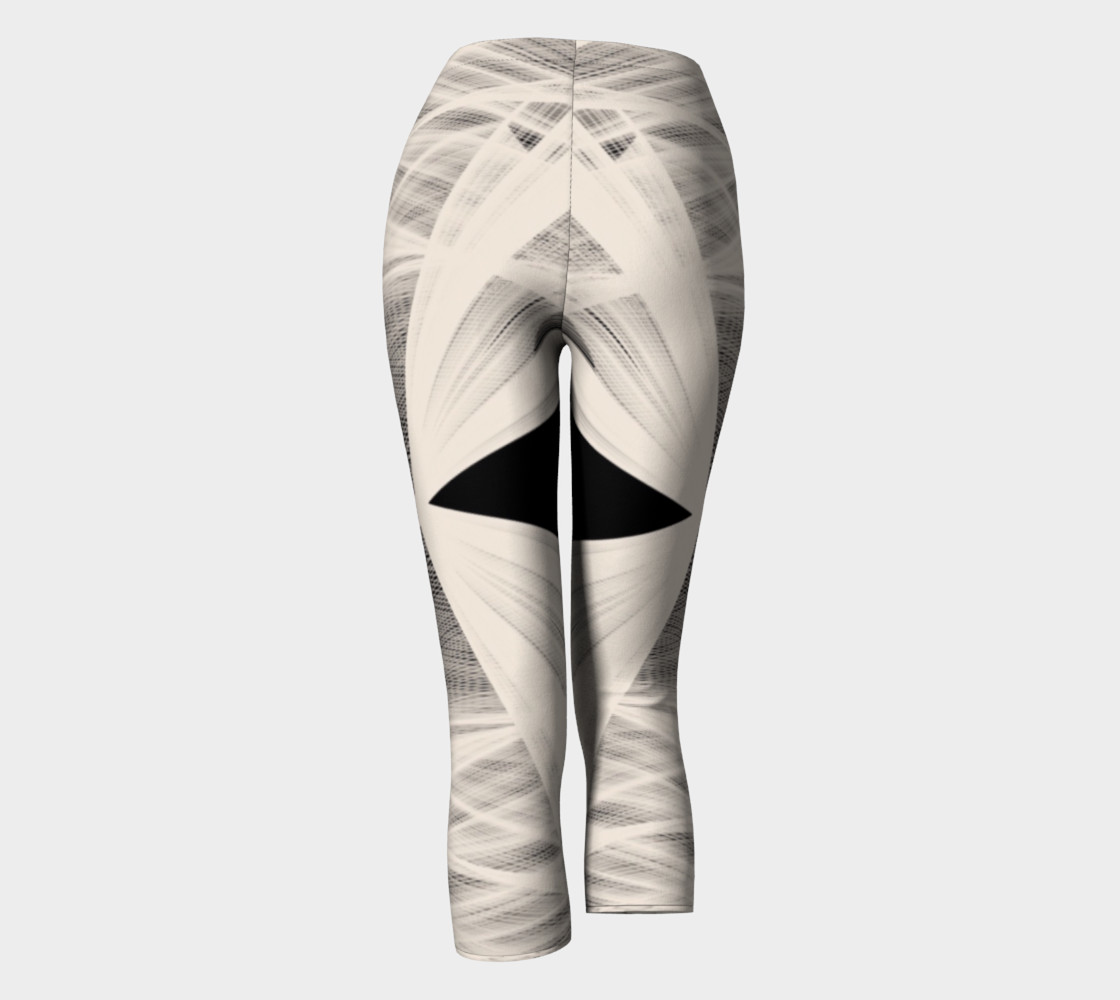 Wrapped Up Black Tan Capri Leggings  thumbnail #5