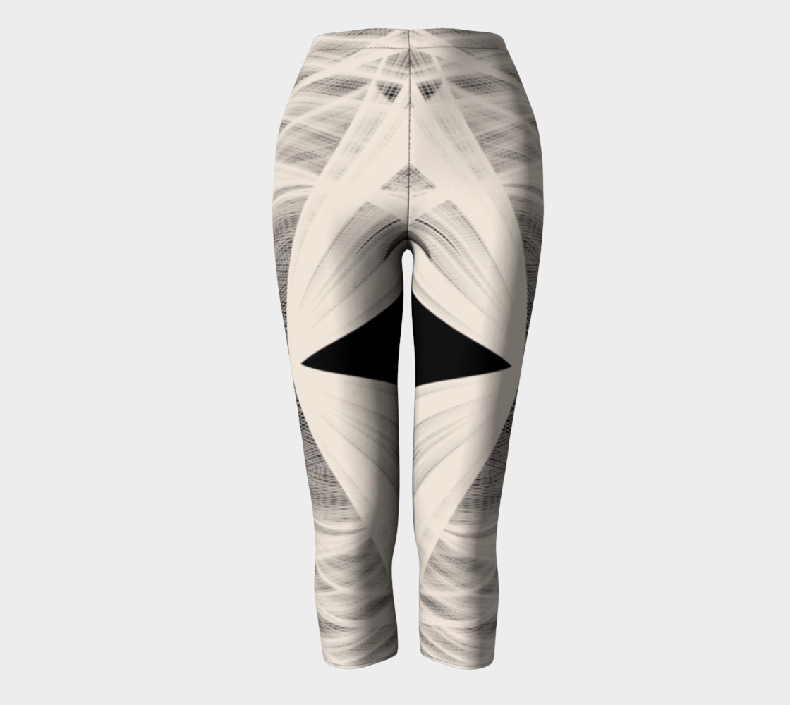 Wrapped Up Black Tan Capri Leggings  preview #2