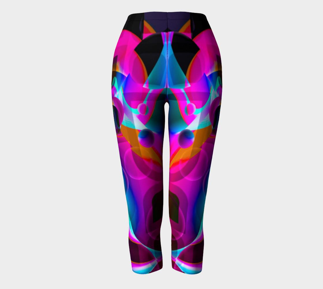 Trippy Psychedelic Bubblie Capri Leggings  preview #2
