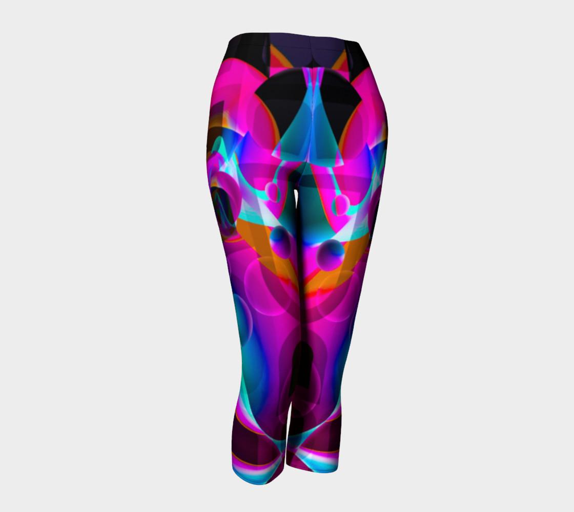 Trippy Psychedelic Bubblie Capri Leggings  preview #1