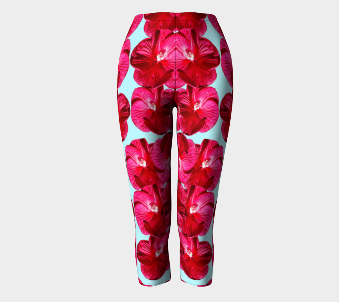 Red Hibiscus Capris preview #2