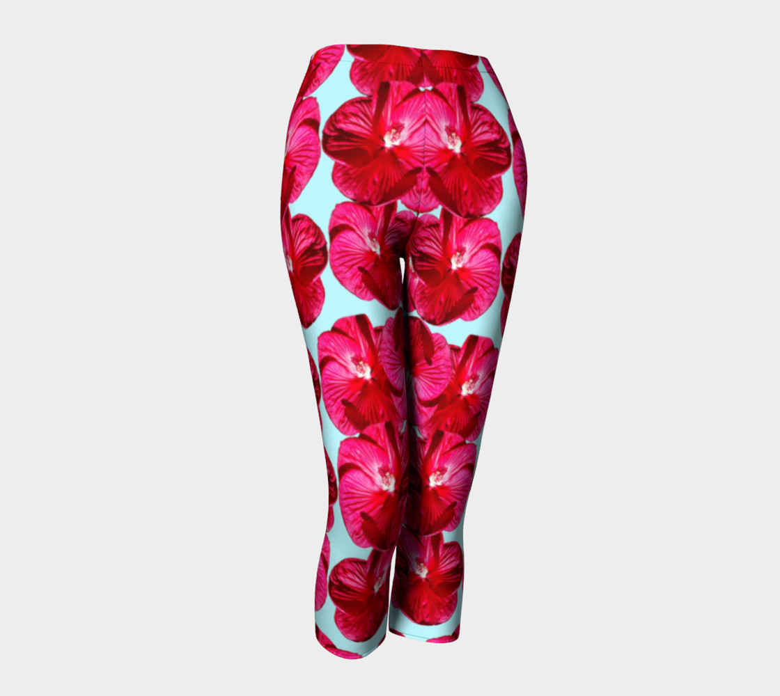 Red Hibiscus Capris preview #1