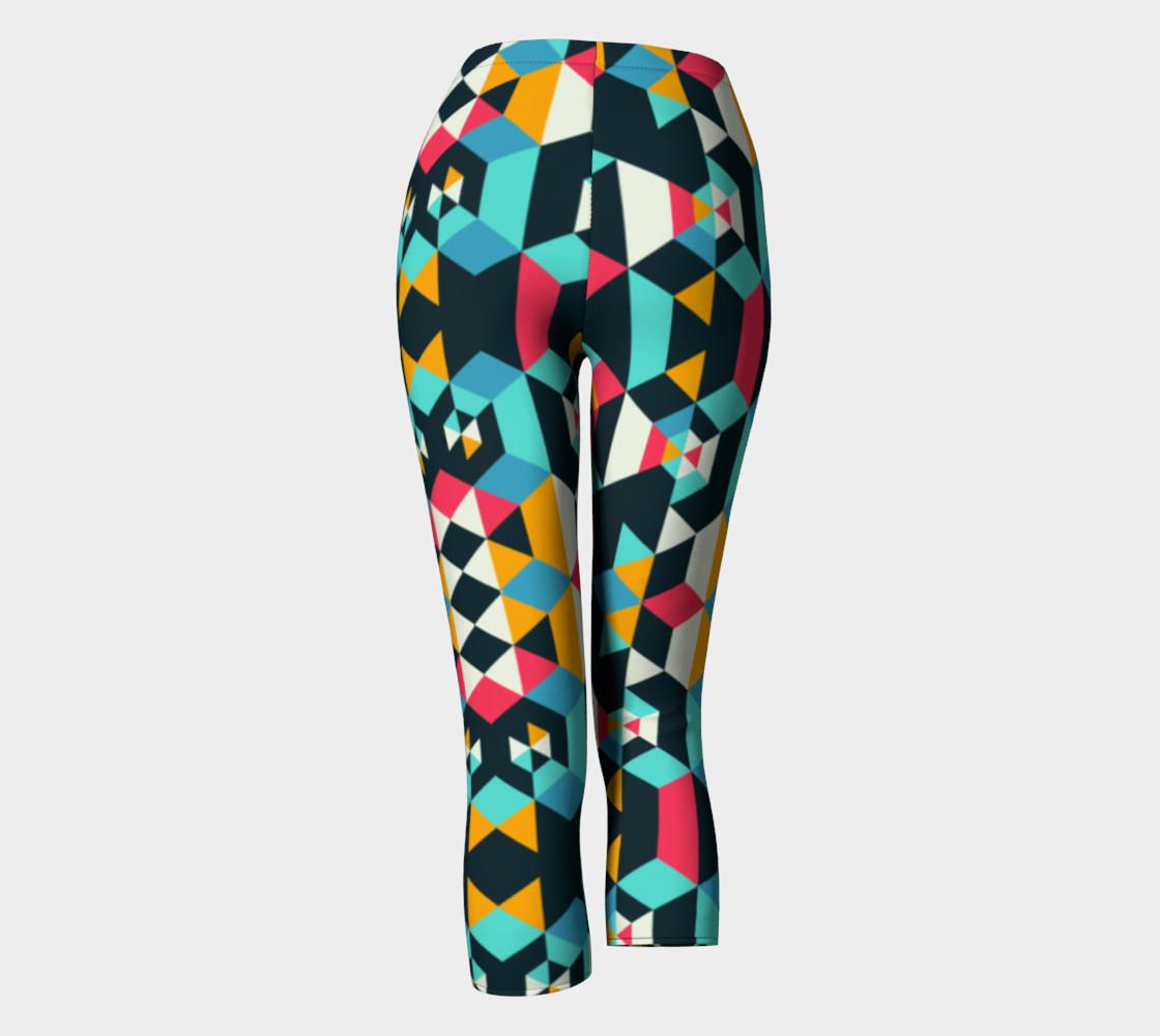 Modern Colorful Geometric Capris preview #4