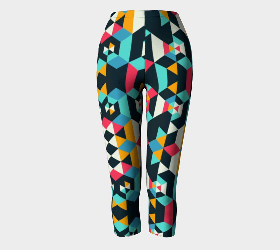 Modern Colorful Geometric Capris preview #2