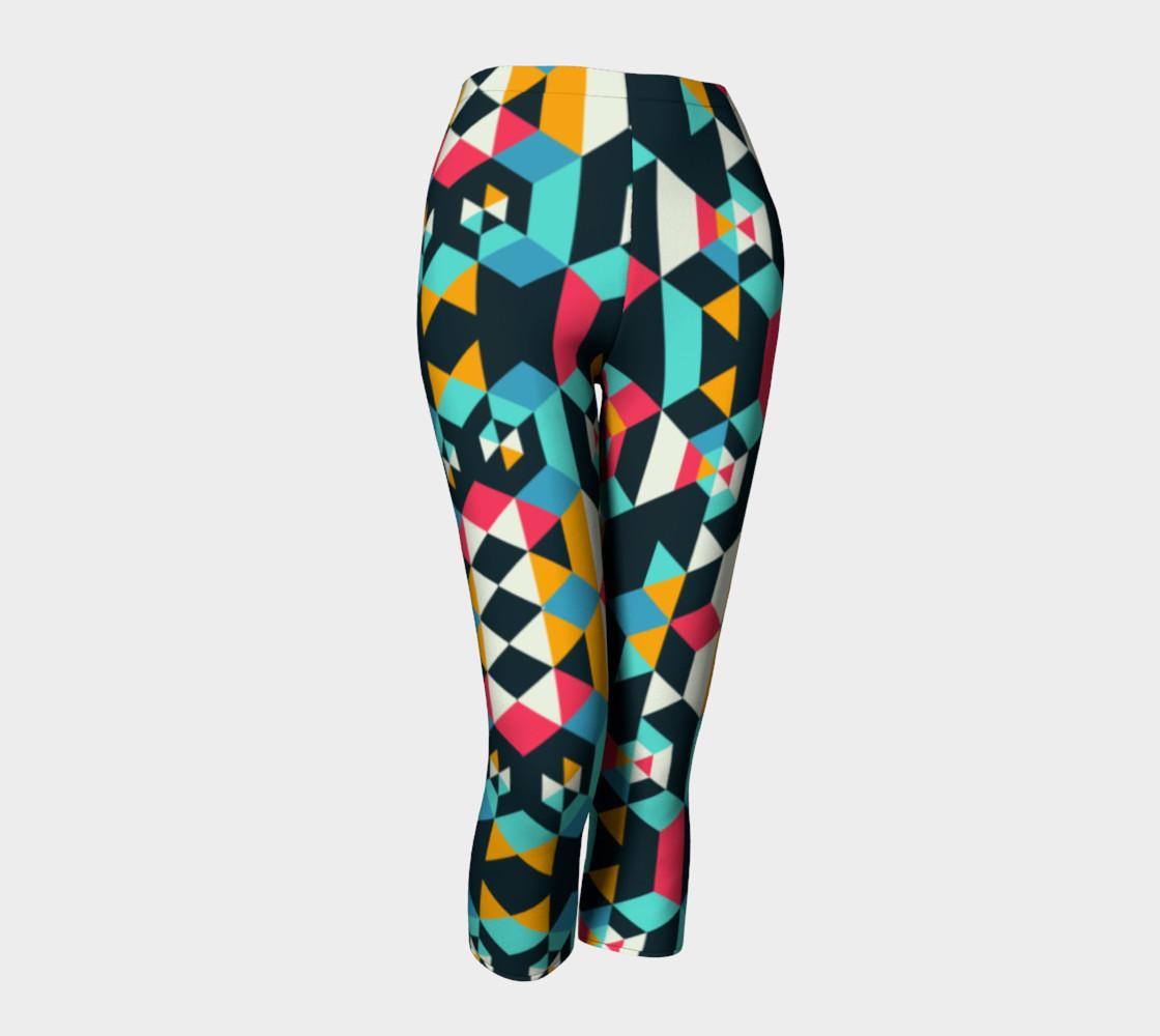 Modern Colorful Geometric Capris preview #1