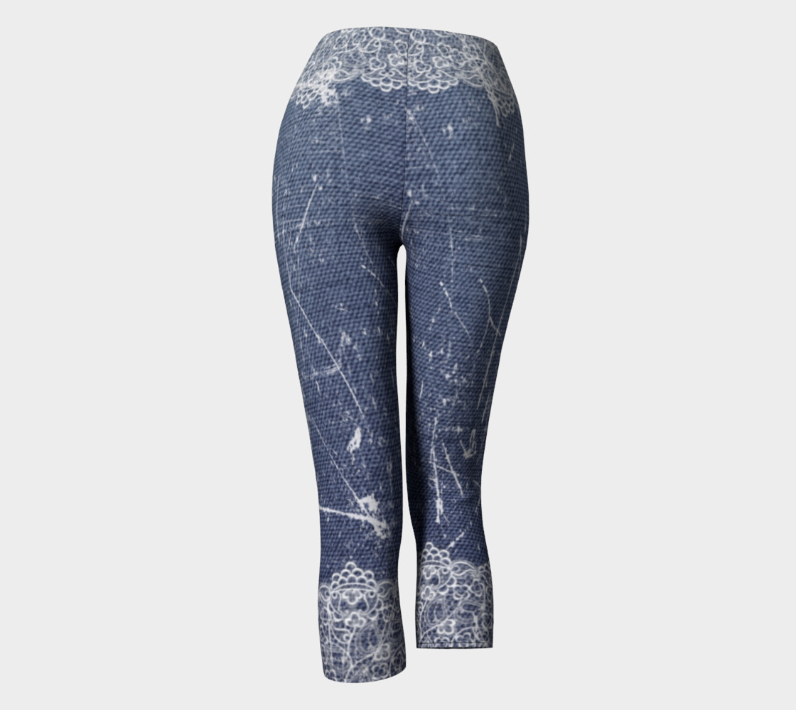 Denim Jeans with Lace Capris preview #4