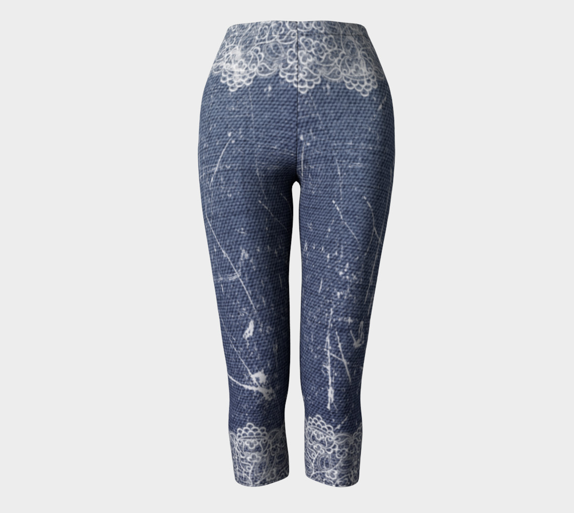 Denim Jeans with Lace Capris preview #2