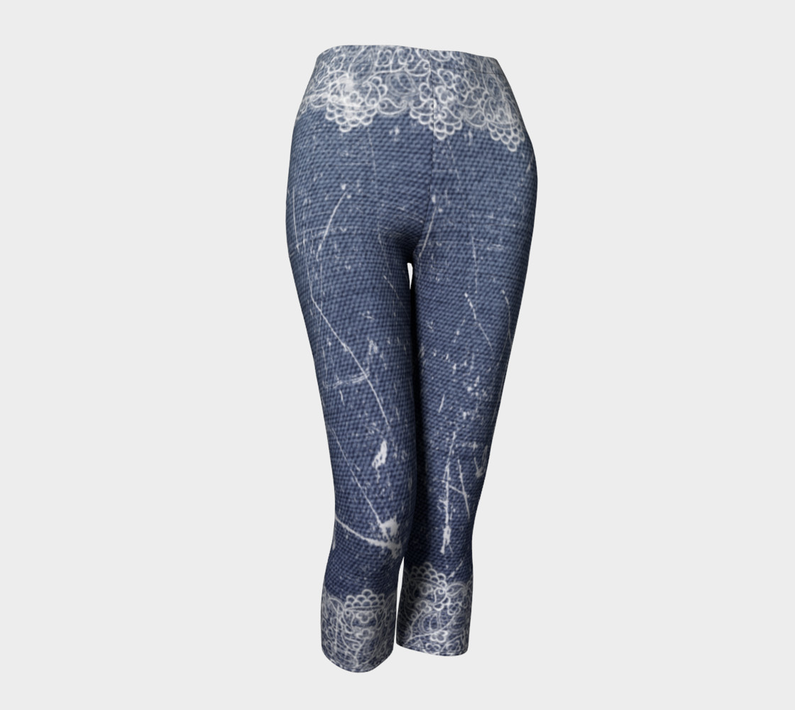 Denim Jeans with Lace Capris preview #1