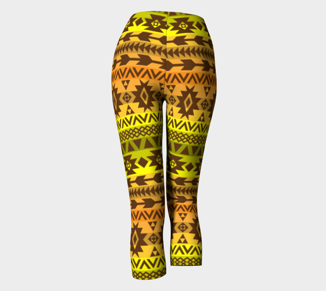 leggings with ethnic pattern in autumn palette thumbnail #5