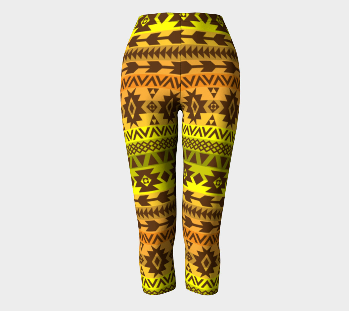 leggings with ethnic pattern in autumn palette preview #2