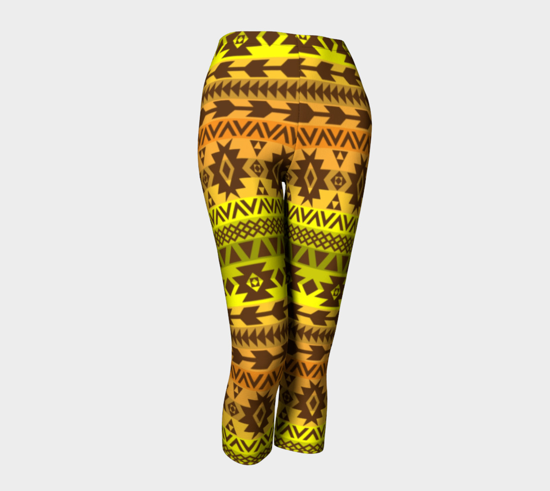 leggings with ethnic pattern in autumn palette 3D preview