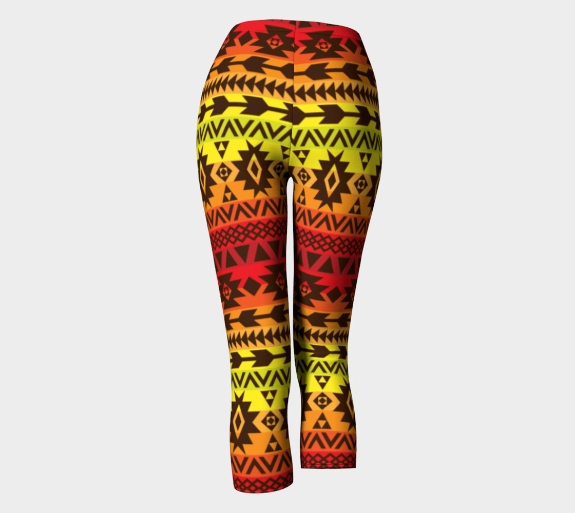 Aperçu de capri pants with bright ethnic pattern #4