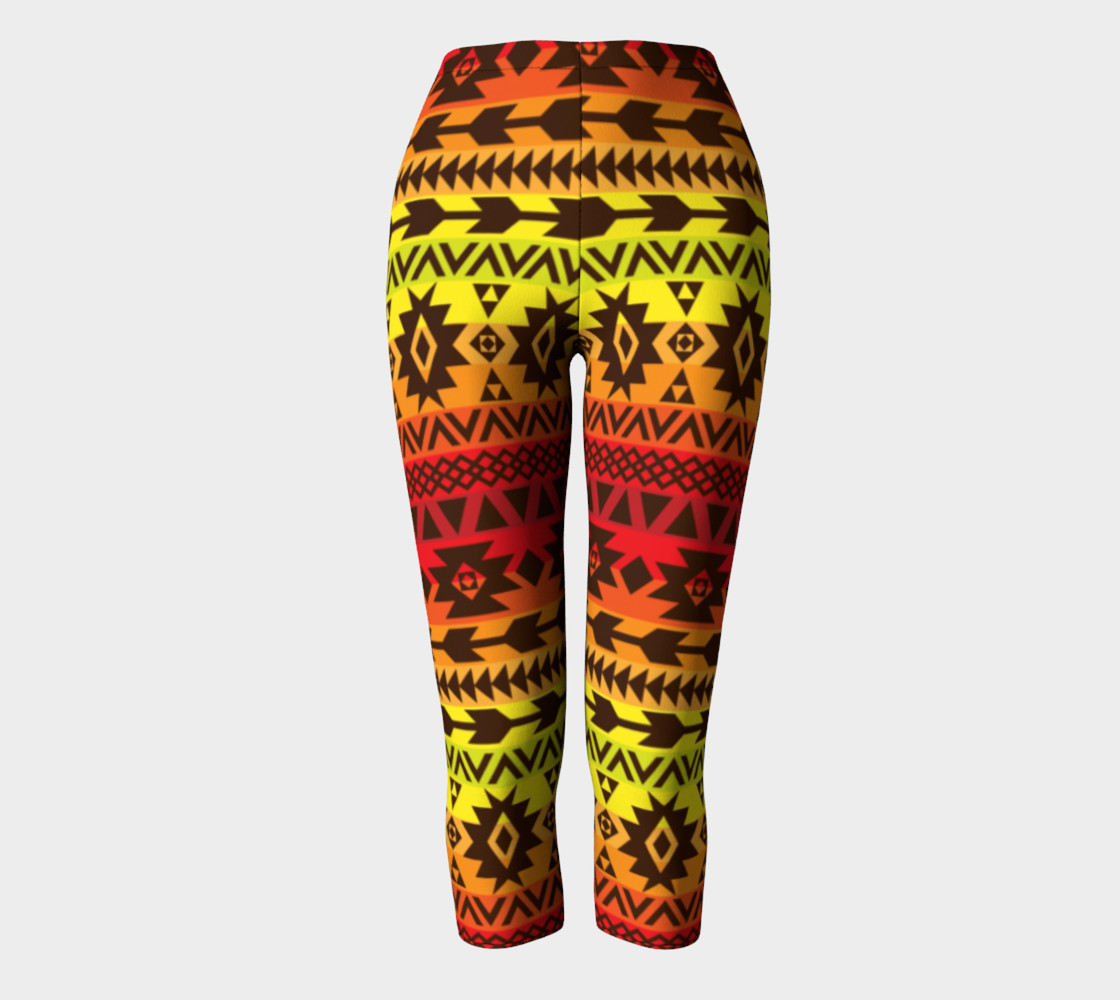 Aperçu de capri pants with bright ethnic pattern #2