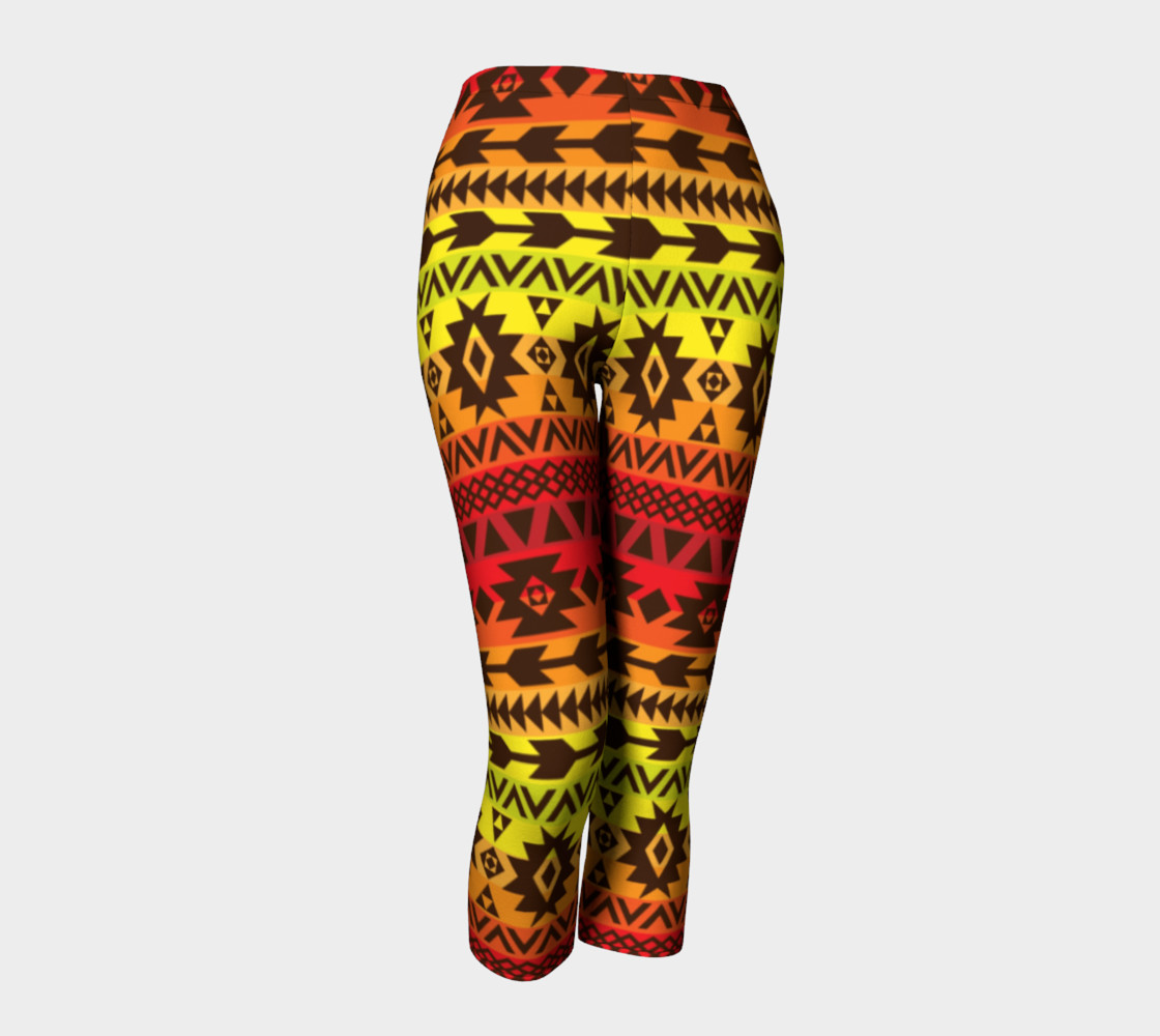 Aperçu de capri pants with bright ethnic pattern #1