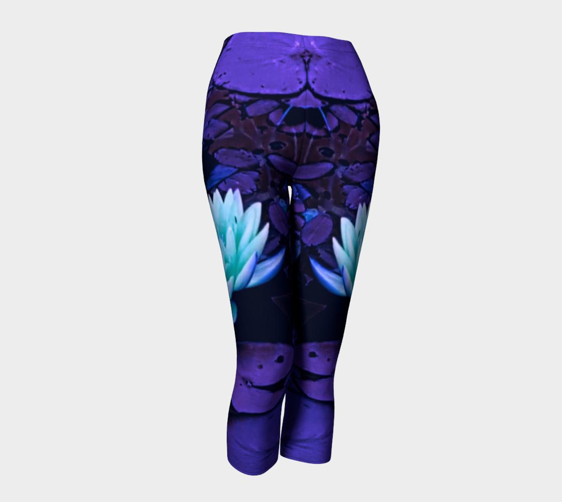 Lotus Flower Purple Turquoise Capri preview #1
