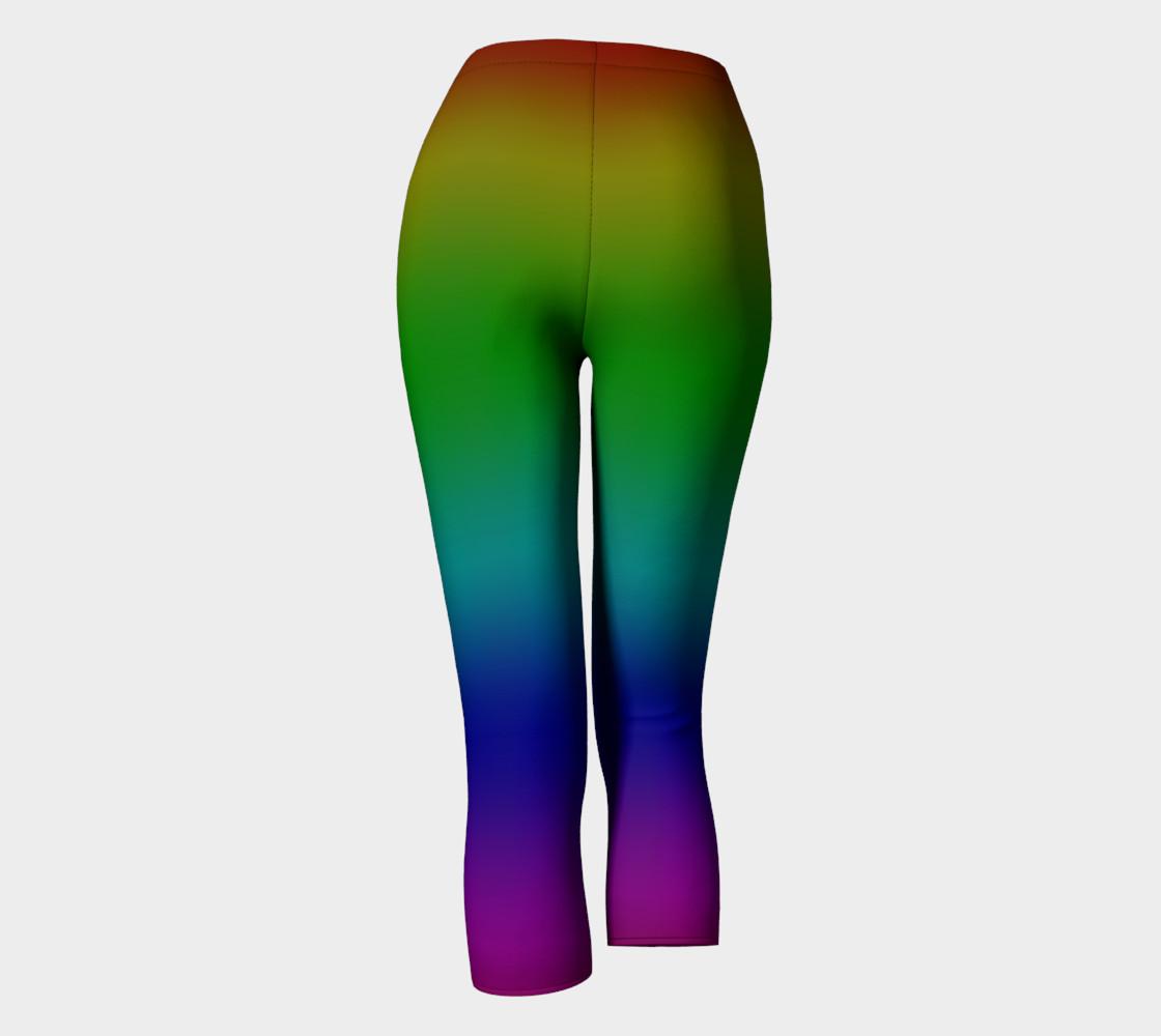 Dark Rainbow Ombre Capris preview #4