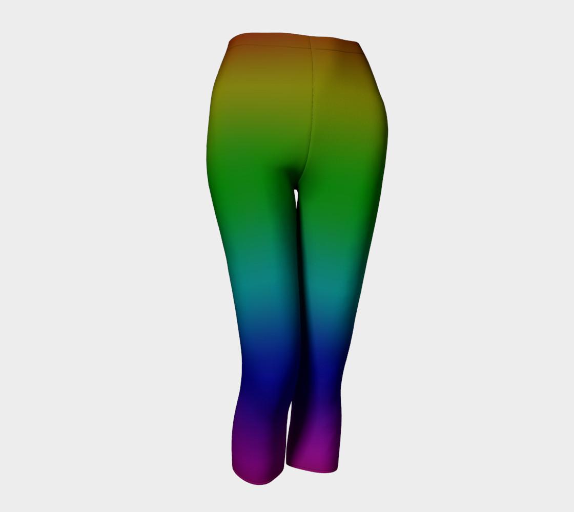 Dark Rainbow Ombre Capris preview #1