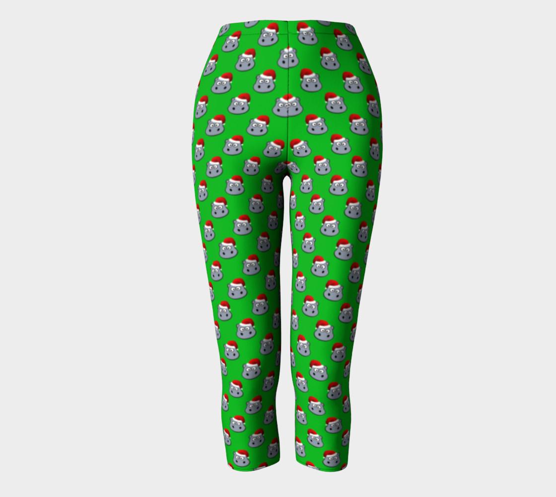 Santa Hippo-Green Capris preview #2