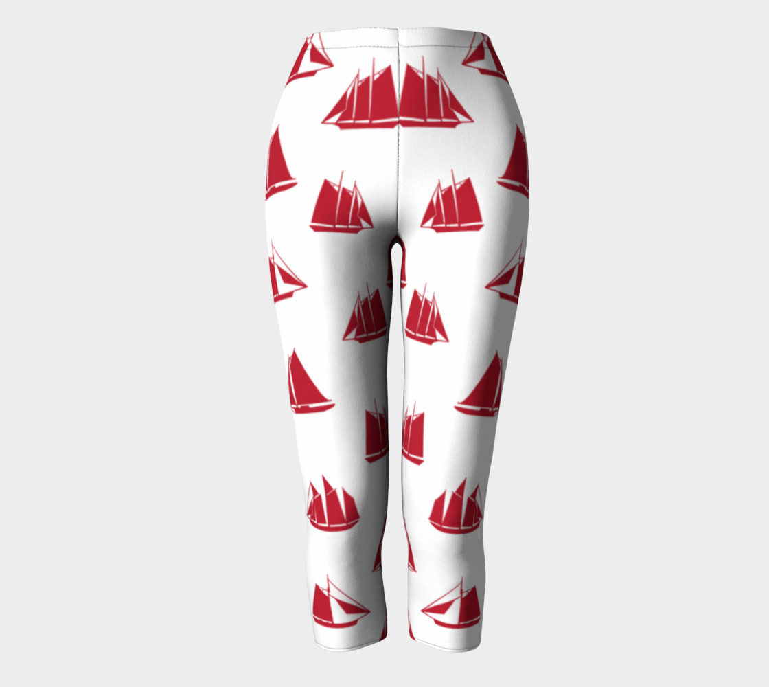 Sailboats - Red Boats on White Background preview #2