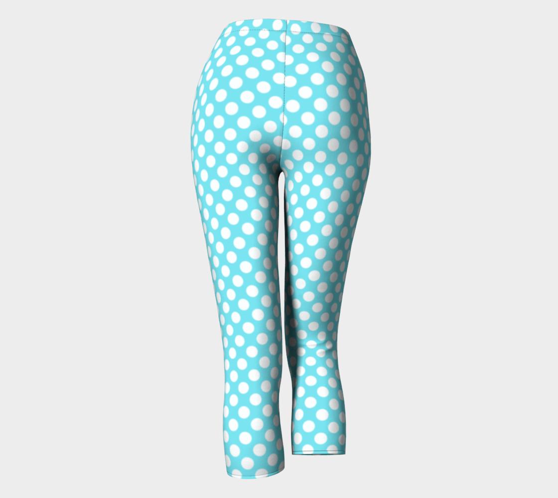 Polka Dots Pattern-Blue Capris preview #4