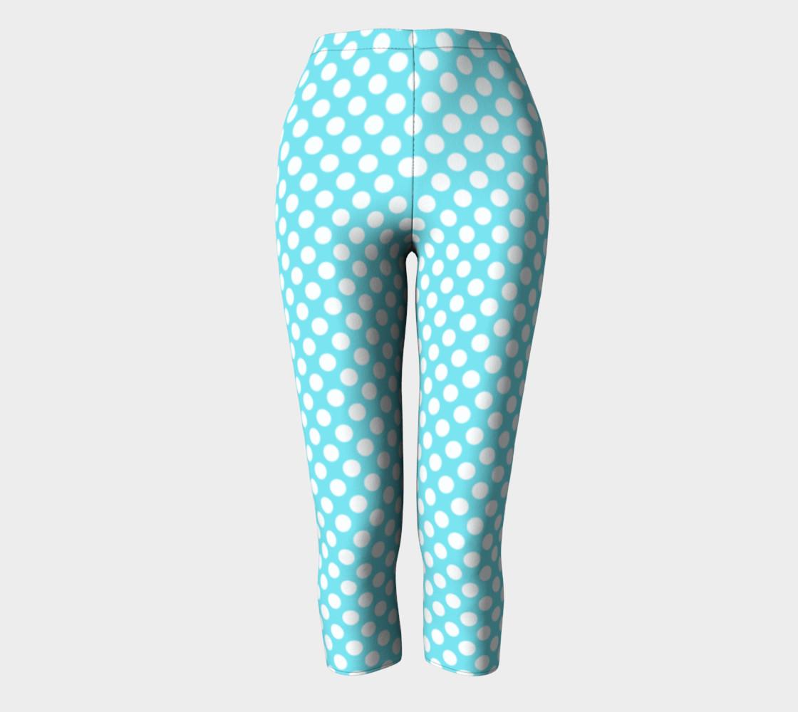 Polka Dots Pattern-Blue Capris preview #2
