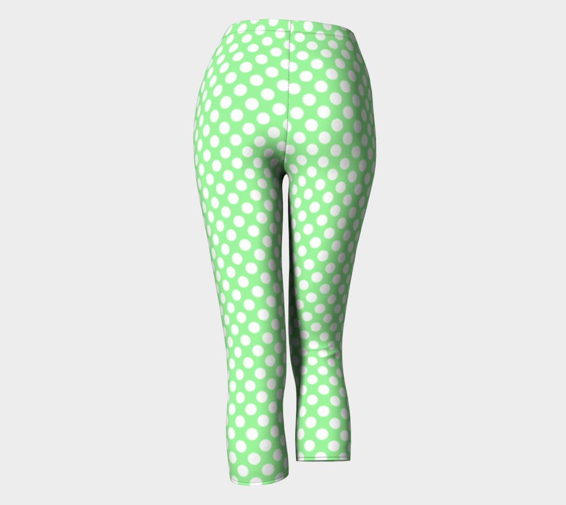 Polka Dots Pattern-Green Capris preview #4
