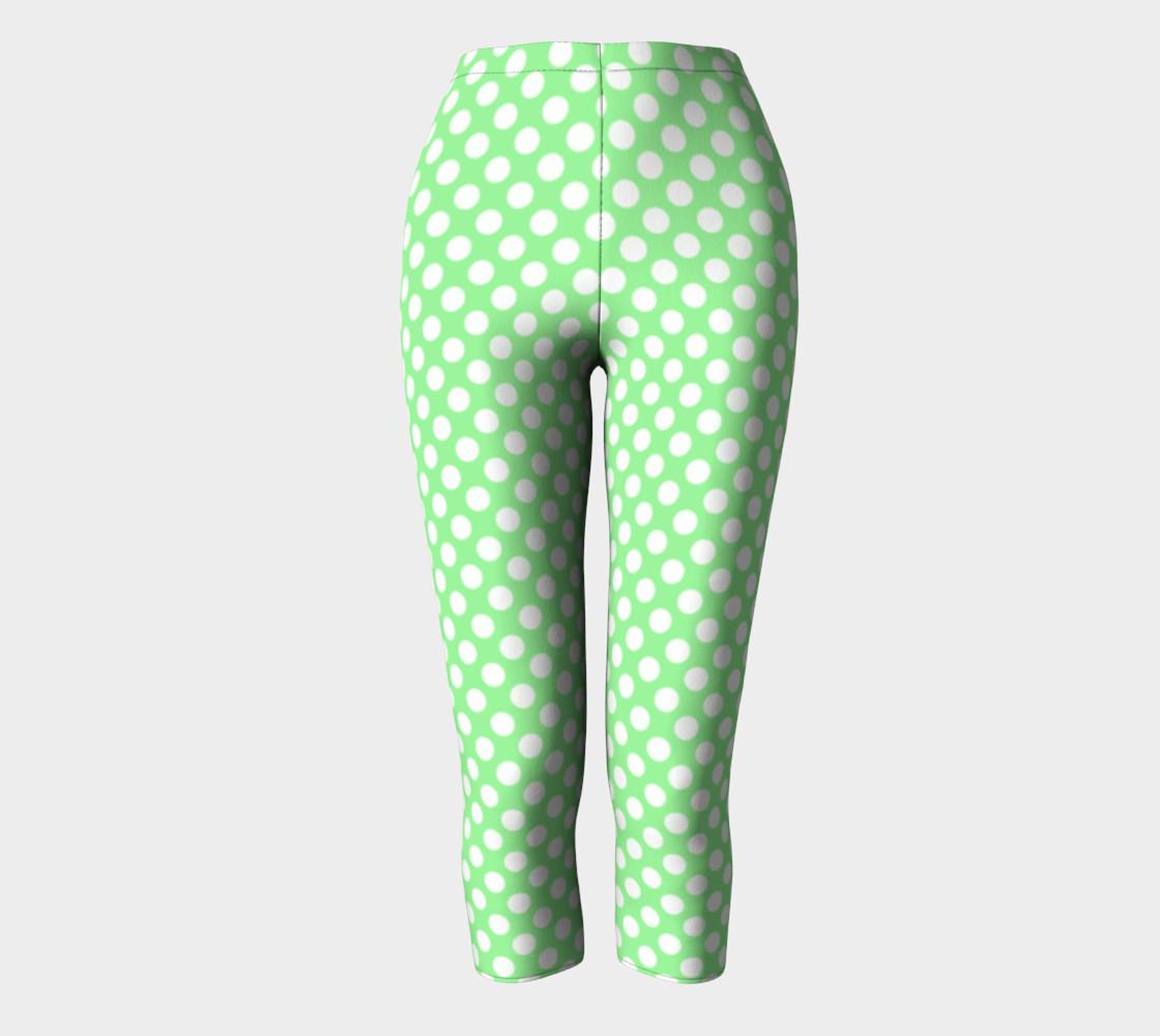 Polka Dots Pattern-Green Capris preview #2