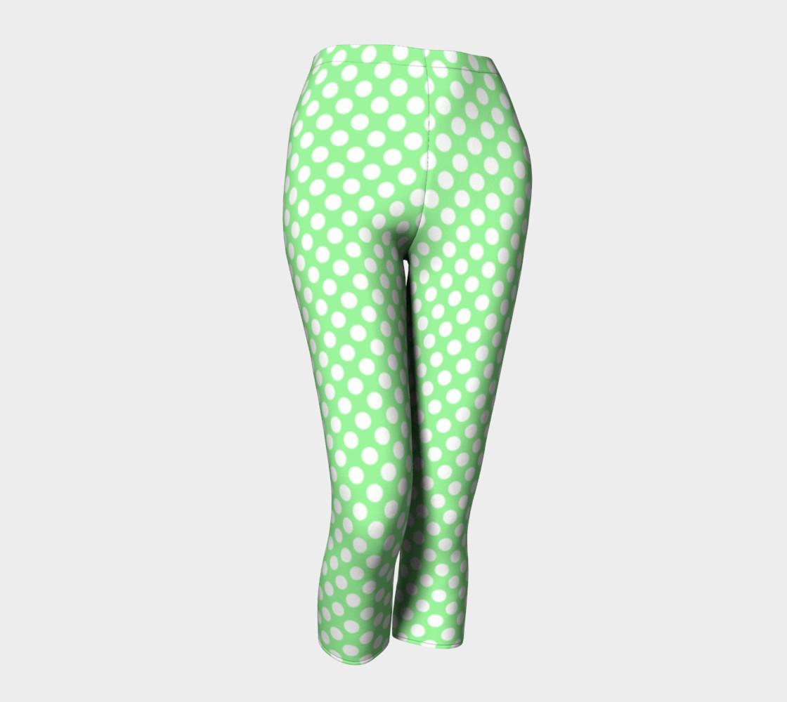 Polka Dots Pattern-Green Capris preview #1