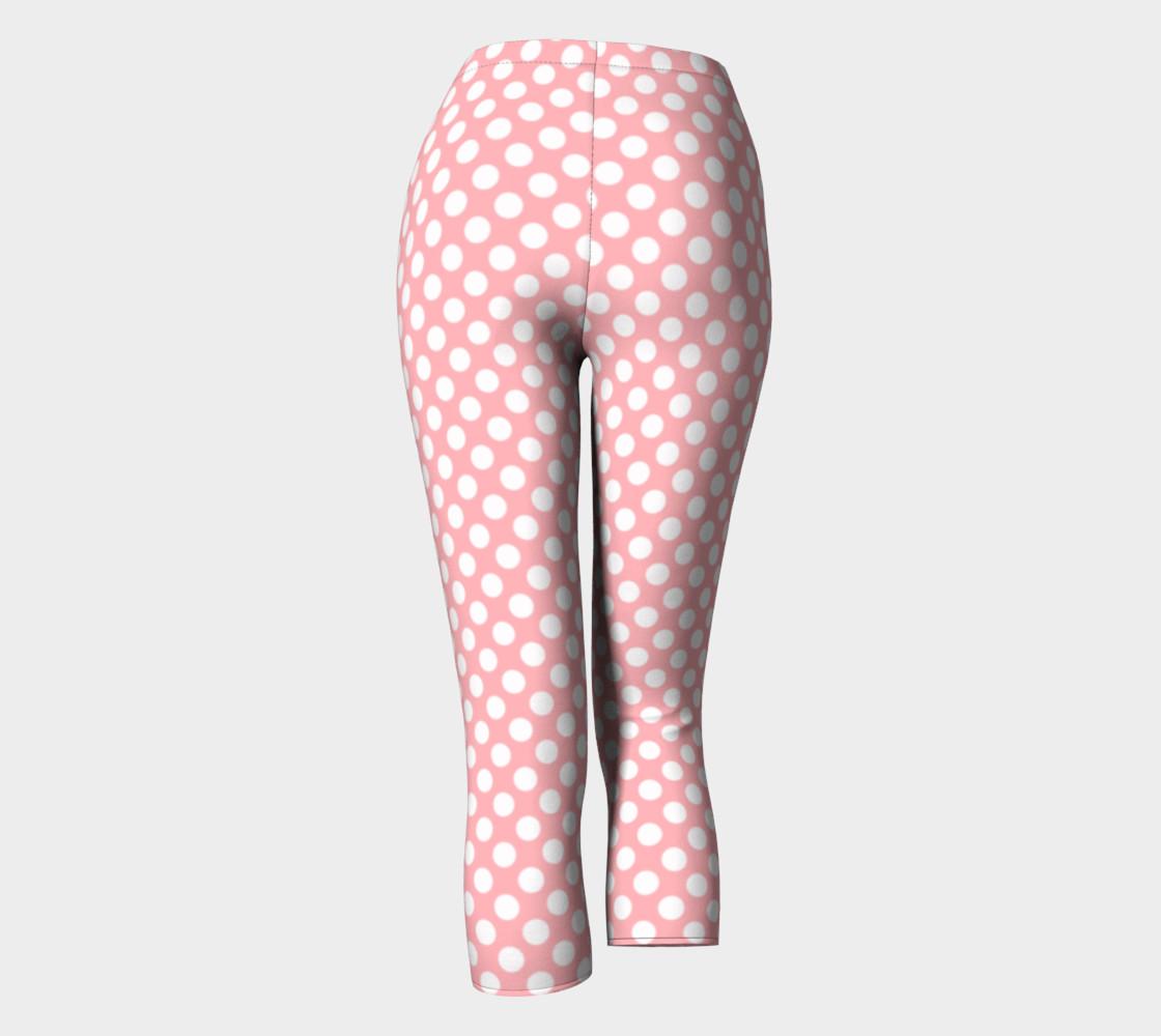 Polka Dots Pattern-Pink Capris preview #4