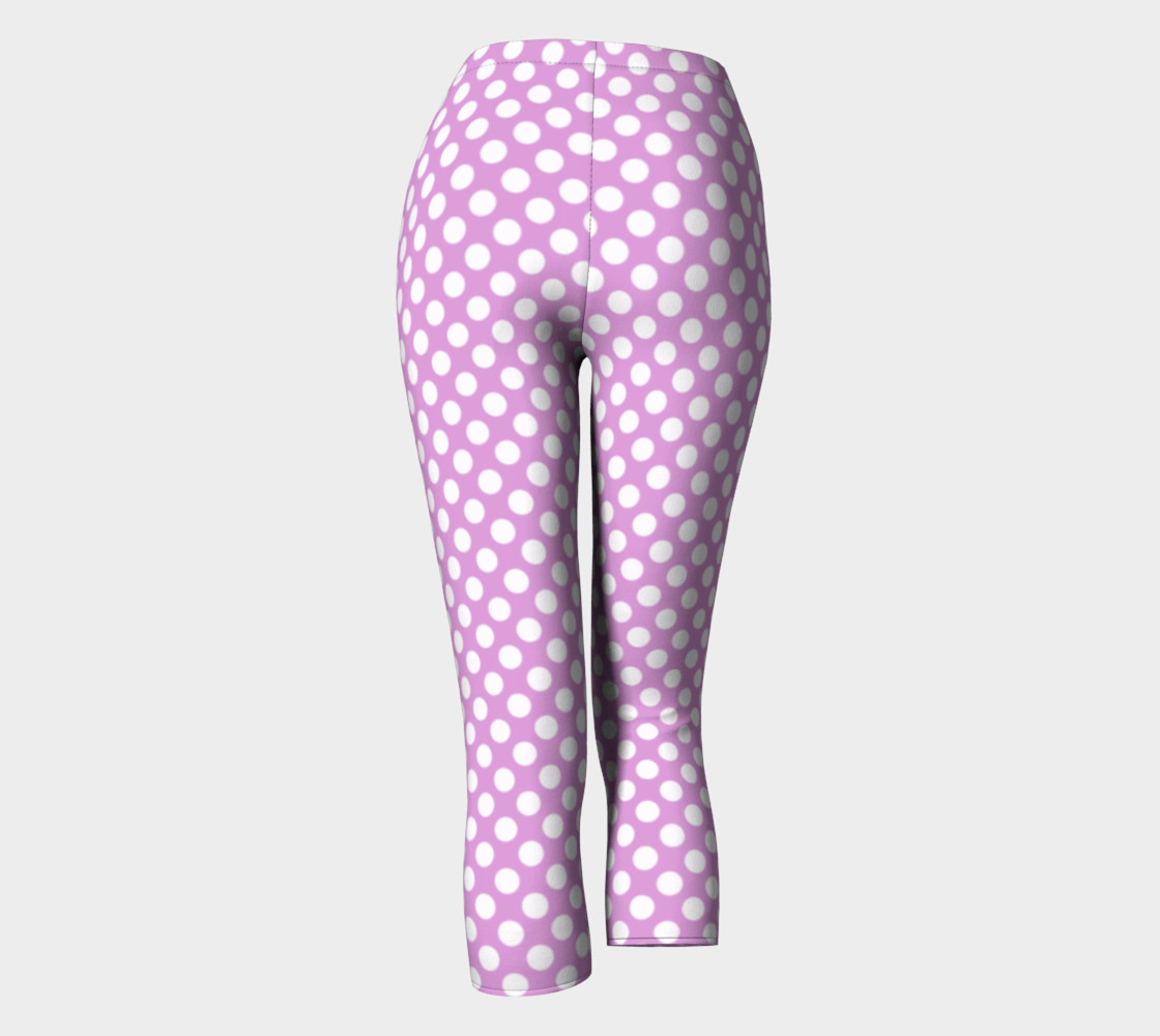 Polka Dots Pattern-Violet Capris preview #4