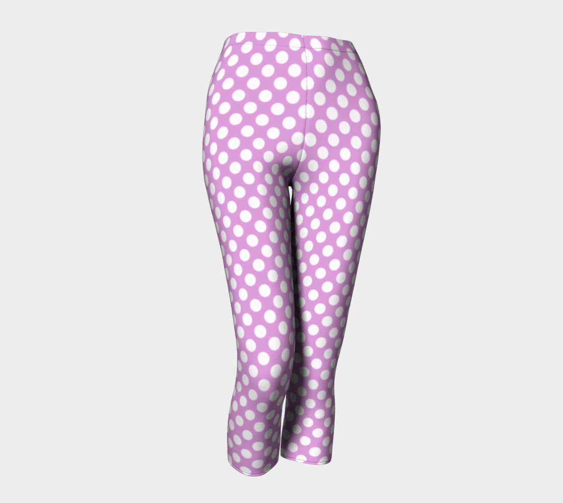 Polka Dots Pattern-Violet Capris preview #1