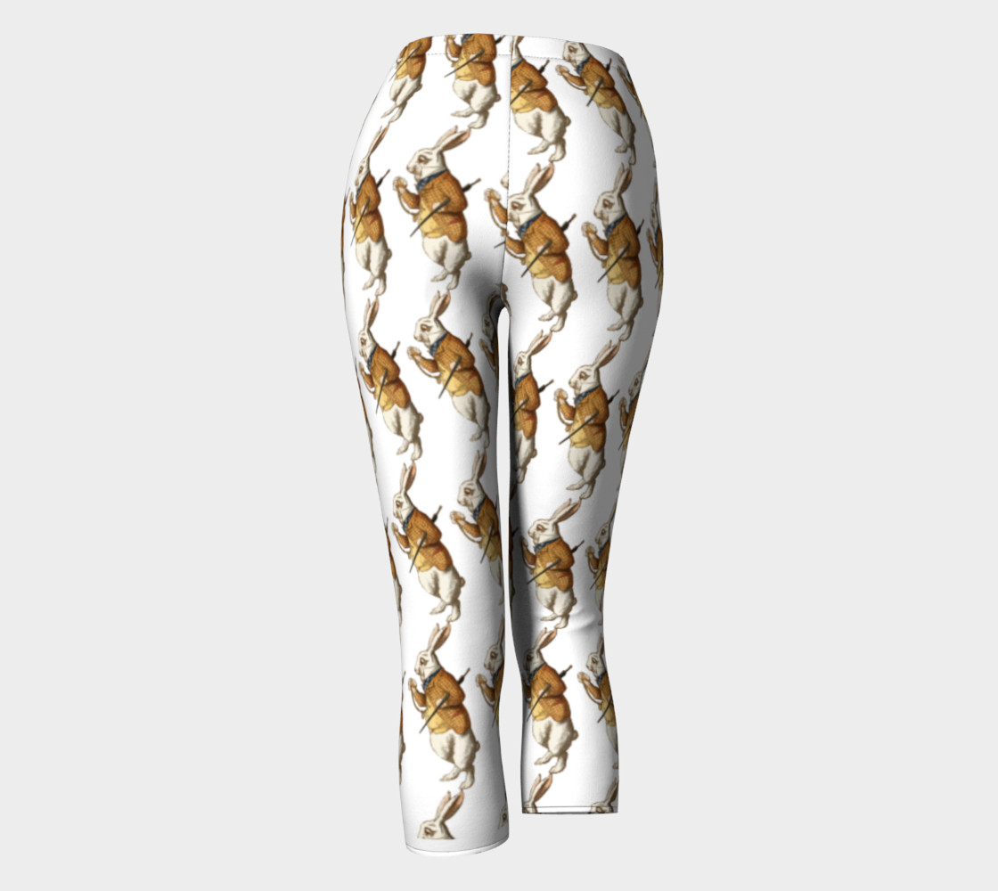 White Rabbit in Color from Alice Adventures in Wonderland Pattern Capris preview #4