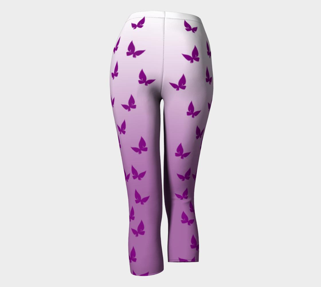 Purple Butterflies Capris preview #4